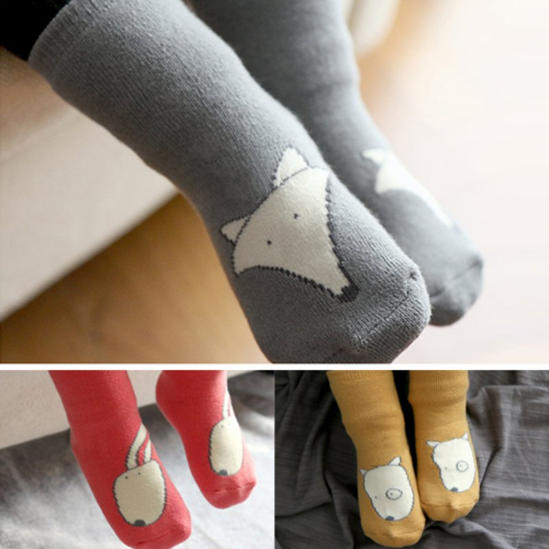 Unisex Cartoon Dog Fox Rabbit Animal Style Socks Newborn Toddler Baby Girl Boy Non-Slip High Socks Slipper Shoes Boots jacquemus mini bag yellow