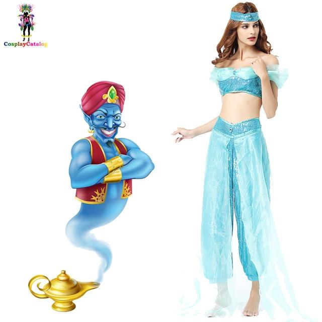 Arabian Nights Charmer Costume Fairytale L& Adult Sexy Women Costumes Sexy Blue Genie Clothes Halloween Party  sc 1 st  AliExpress.com & Arabian Nights Charmer Costume Fairytale Lamp Adult Sexy Women ...