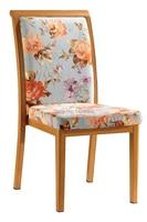 Woodgrain Upholstered Aluminum Dining Chair LQ L288
