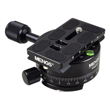 MENGS PAN 01 360 Degree Aluminum Panoramic Panning Base Tripod Head Clamp +1/4 Quick Release Plate for DSLR Camera & Tripod