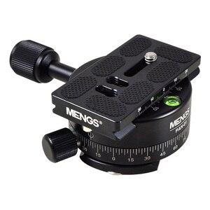 Image 1 - MENGS PAN 360 Gradi Alluminio Panoramica Panoramica Base Testa Treppiedi Morsetto + 1/4 Piastra A Sgancio Rapido per DSLR Camera e treppiede