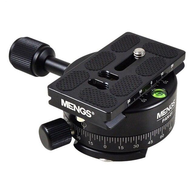 MENGS PAN 360 Gradi Alluminio Panoramica Panoramica Base Testa Treppiedi Morsetto + 1/4 Piastra A Sgancio Rapido per DSLR Camera e treppiede