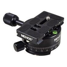 Mengs PAN 01 360 درجة الألومنيوم قاعدة ترايبود رئيس بانورامي بالغسل المشبك + 1/4 سريعة الإصدار خماسي لل dslr كاميرا و ترايبود