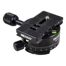 Mengs pan 360度アルミパノラマパンベース三脚ヘッドクランプ+ 1/4 クイックリリースプレート用デジタル一眼レフカメラ&三脚