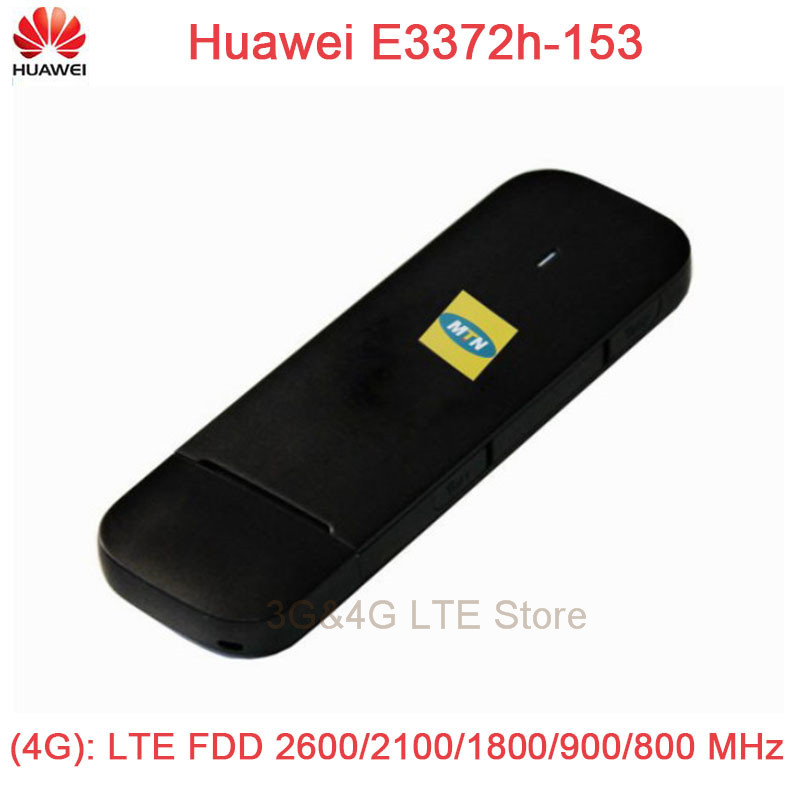 unlock Huawei E3372h-153 LTE FDD800/900/1800/2100/2600Mhz Cat4 150Mbps Wireless USB Modem