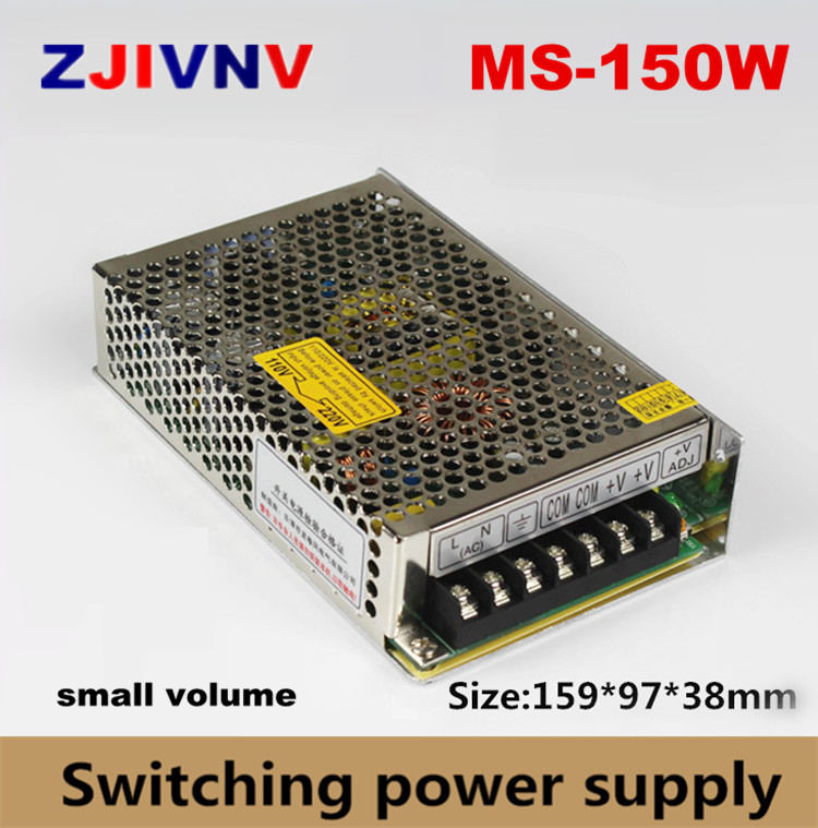 mini size 150w switching power supply single output 15v 10a programmable ac/dc led smps 12v 5v 24v 36v 48v 27v цена 2017