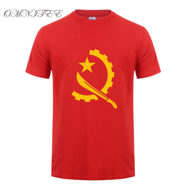 c7492820 New Summer Style Angola T Shirts Funny Africa Country T Shirt O-neck Short  Sleeve Cotton Tops Angola T-shirt OT-664