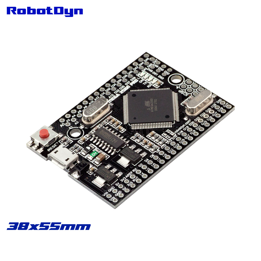 Mega 2560 PRO (Embed) CH340G/ATmega2560-16AU, NO pinheaders. Compatible for Arduino Mega 2560.