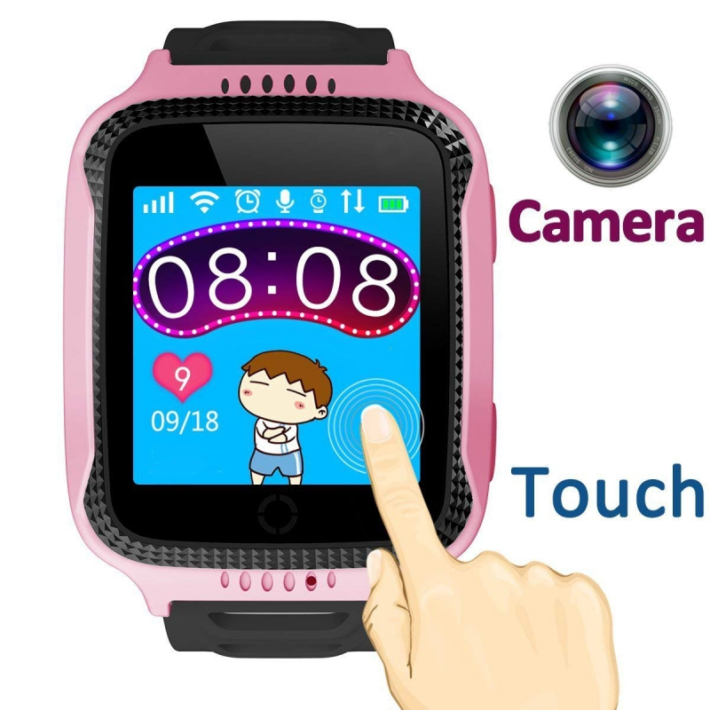 Anti-lost SOS Locate Kid Safe Children GPS Tracker Smart Watch With Flashlight and Camera SIM Calls Smartwatch for iOS Android G