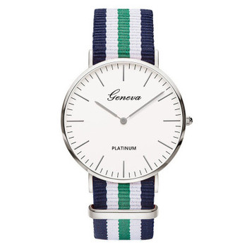 Fashion Geneva Casual Quartz Watch Men Women Nylon Strap Dress Watches Relojes Hombre Women Watch Hot Gift  relogio feminino
