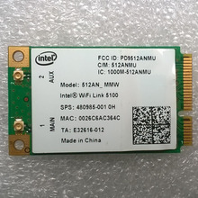 Intel WiFI link 5100 Mini PCI-E Wireless card For DV4 DV5 DV7 CQ40 CQ50 CQ60 2730P 6930P Series, sps 480985-001