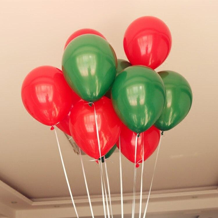 Feliz Navidad Globos de Látex Verde y Roja Navidad Decoración Helio Balones nuevo sí
