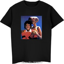 dc8018262 Michael Jackson & E.T T Shirt Shirts Tee Vintage Retro Thriller Men High  Quality Tees Top