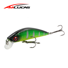 Купить с кэшбэком Amlucas New Fishing Lure Hard Bait 9.5cm 9g Wobblers Jerkbait professional quality Artificial Bait Minnow Fishing Tackle WE1174S