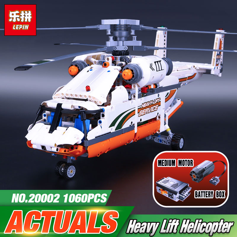 new lepin 20002 technology series mechanical group high load helicopter blocks Compatible With 42052 Boy assembling toy new lepin 20002 technology series mechanical group high load helicopter blocks compatible with 42052 boy assembling toys
