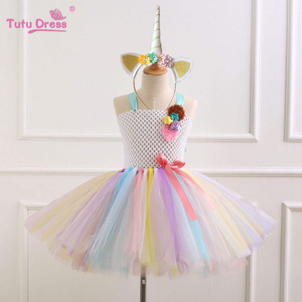 Children Girls Party Dresses 2-12 Years Girl Tutu Dress Baby Girls Clothes Birthday Gift Flower Headband Dress Children Costume 3 phase screw motors drivers frequency stepping driver