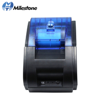 Milestone 58mm Wireless Thermal Printer Bluetooth ESC POS USB Recepit Printing Machine Support Android iOS Cash Drawer MHT P58A