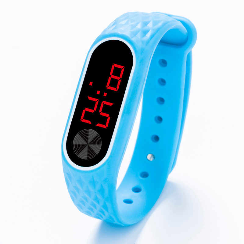 Led 디지털 디스플레이 팔찌 시계 남자 여자 실리카 젤 스포츠 시계 전자 시계 패션 gif 남자 시계 야외 s