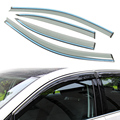 4 unids/lote Styling Car Vent Shade Sun Rain Guardia Cubierta de La Ventana visera Para Volkswagen VW Golf 7 2013-2015 Accesorios de Alta calidad