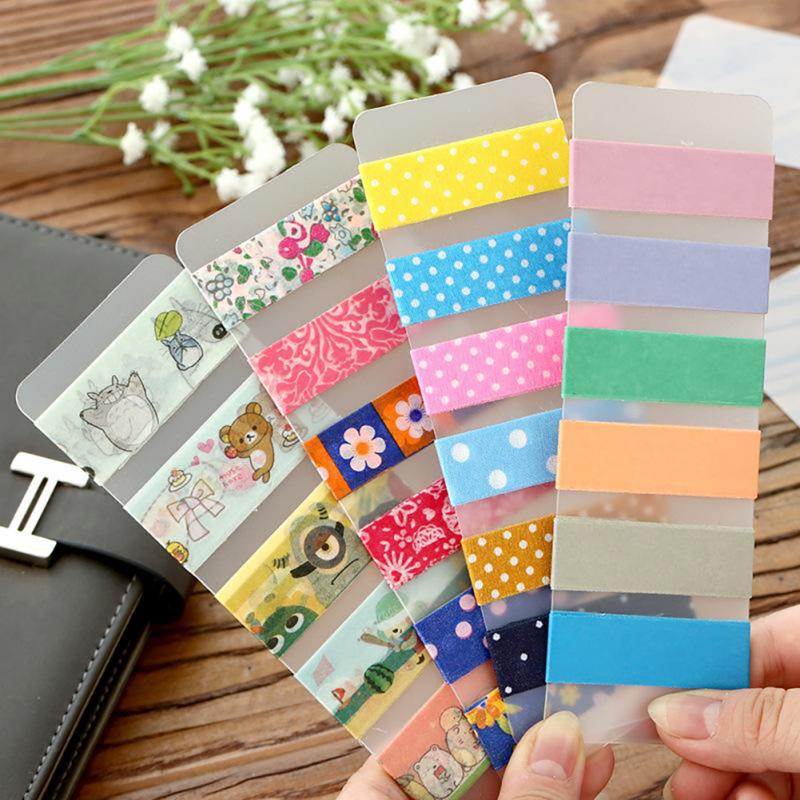 10pcs Matte Thickened Round Corner PVC Board Masking Tape Subpackage Plate Tape Package Planner Tool
