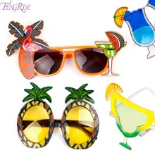FENGRISE Hawaii Beach Flamingo Ananas Solbriller Goggles Bachelorette Hen Night Stag Party Favors Carnival Party Decoration