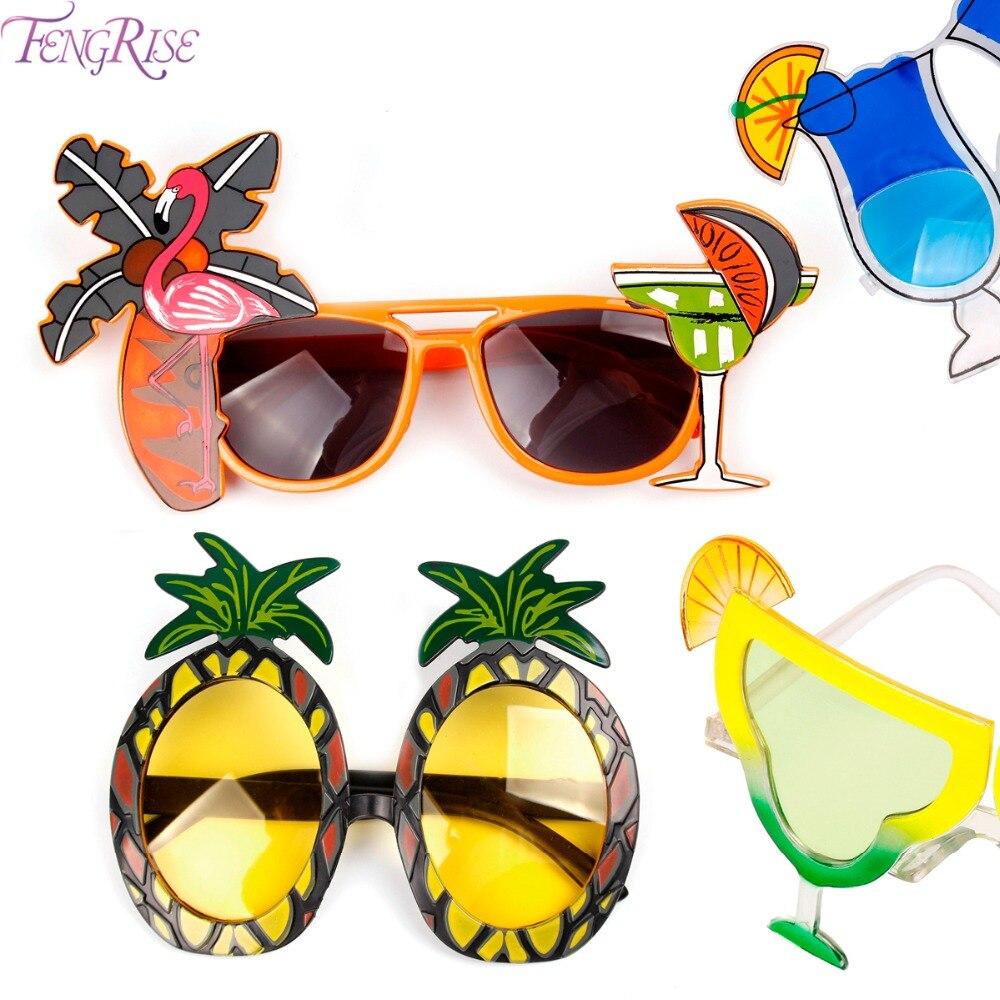 2a573b4f55 Detalle Comentarios Preguntas sobre FENGRISE de Hawaii Beach Flamingo piña  gafas de sol gafas despedida de soltera gallina noche fiesta de favores de  fiesta ...
