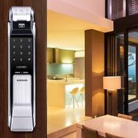 Samsung SHS P718 Fingerprint Digital Door Lock / Push Pull Door Lock Silver Color Big Mortise English Version