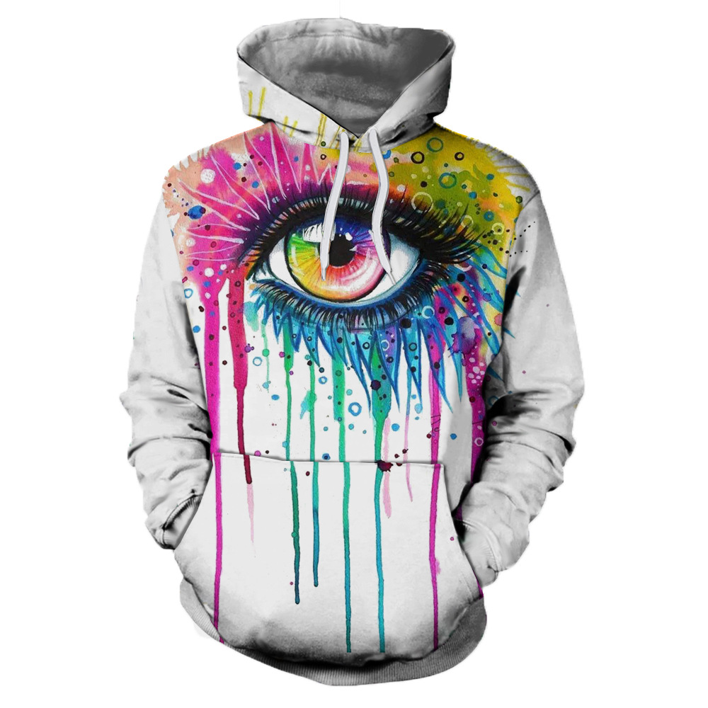 Painted Eyes 3d Printed Hoodies Men/women's couples loose and comfortable hoodie coat hip hop sweatshirts hoodies Casual