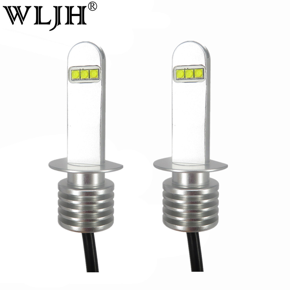 wljh 2x white h1 30w auto car led light lamp bulbs fog lamp low beam headlight daytime running