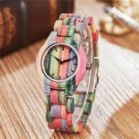 New 2019 Wooden Watches Women colourful Handmade Lightweight Wood Watch Calendar Quartz Sports Watch
