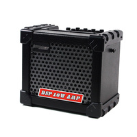 Aroma TM 05 10W Electric Guitar Amp Amplifier Speaker Built in Tuner Tap Function Effect Volume Tone Control with Power Adapter