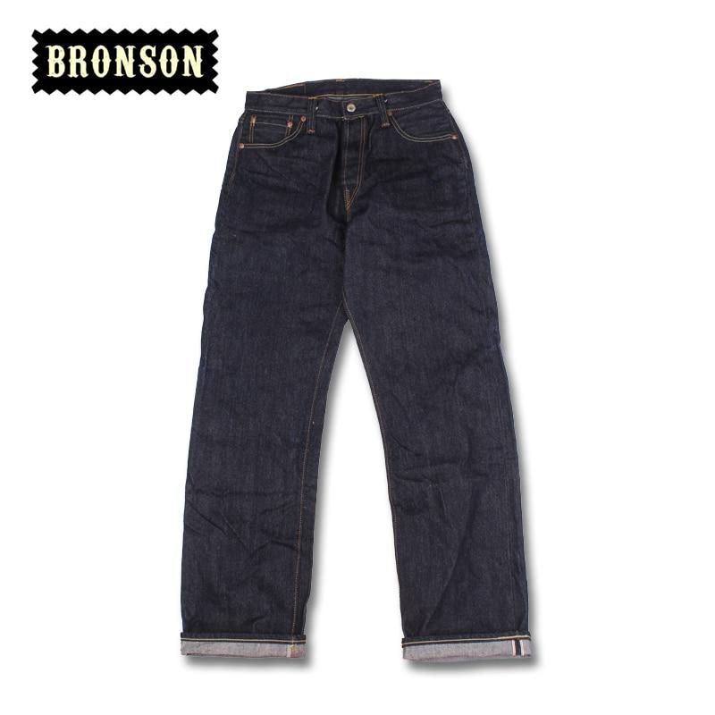 44801XX Bronson 15oz Loose Cut Indigo Selvage Unsanforised Mens Raw Denim Jean