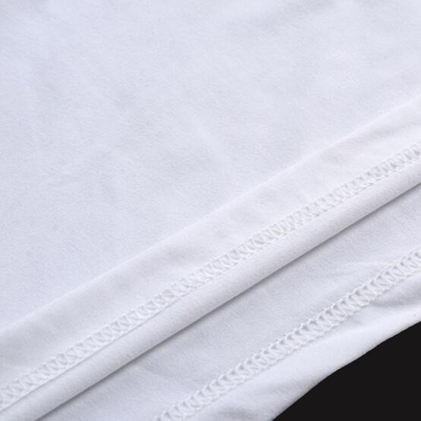 Stitch Pattern Print Round-Neck Fashion Ringer Female T-shirt