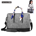 Wool Felt Laptop Bag 11 13 15 Sleeve Notebook Messenger Shoulder Bag for Macbook Air 11 12 13 15 Pro Retina Case Women Handbag