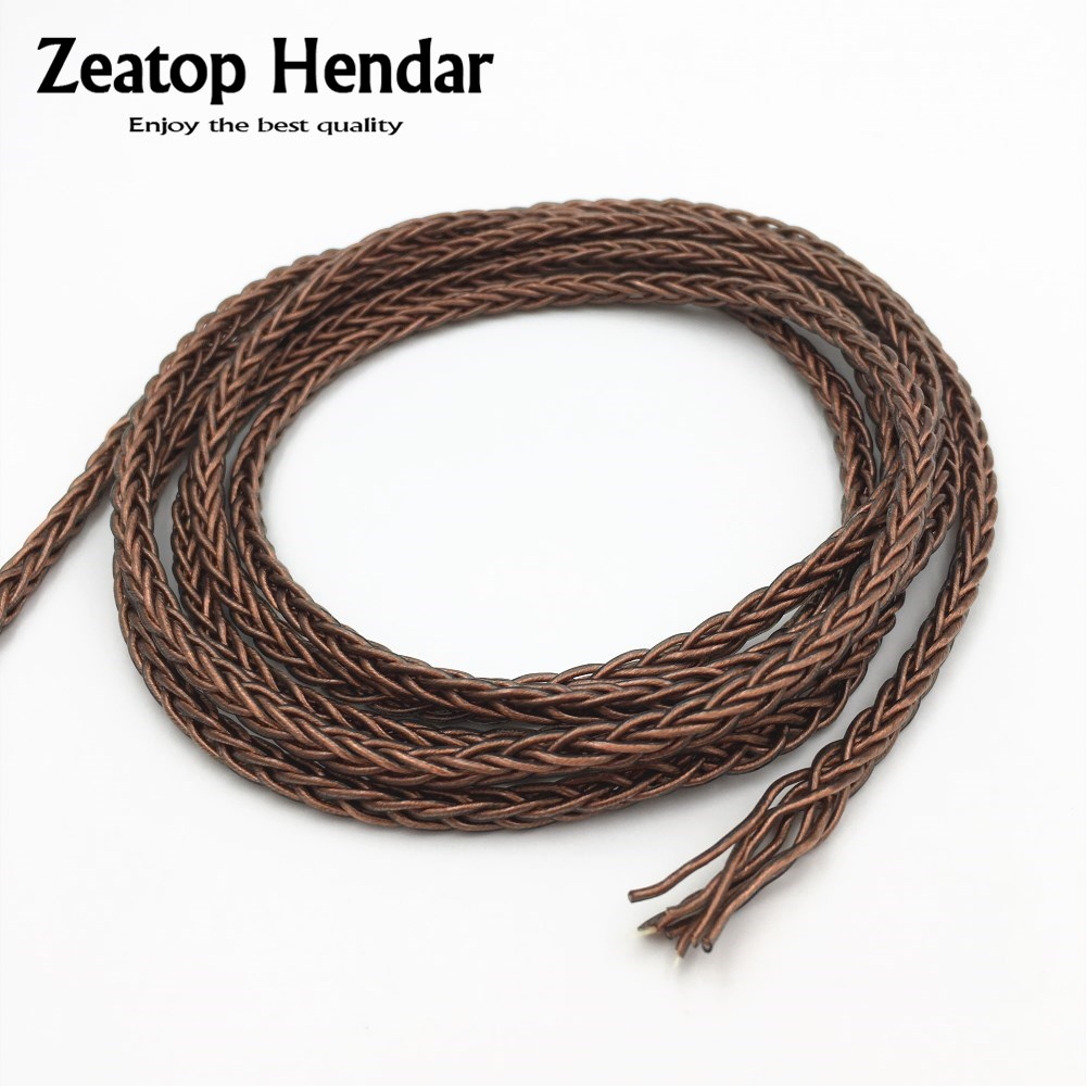 8 Core Braided Hifi Upgrade Cable For Amplifier Headphone Replace Audio Wire
