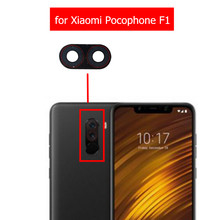 2pcs for Xiaomi Pocophone F1 Camera Glass Lens Back Rear Camera Glass Lens with Glue Poco F1 Replacement Repair Spare Parts(China)