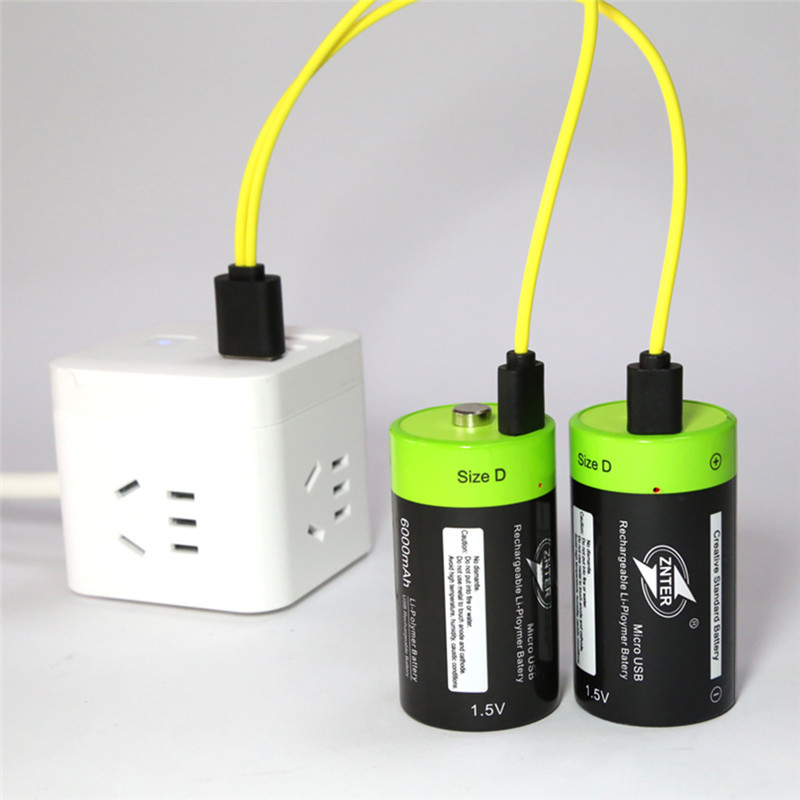 ZNTER D size 4000mAh Lithium Battery Bateria Pilha Recarregavel 1.5v 2A 4000mAh Rechargeable Battery Multifunctional Li-polymer