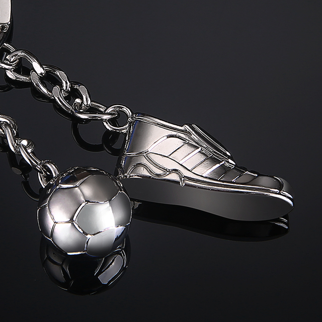 Football Stainless Sports Key Ring