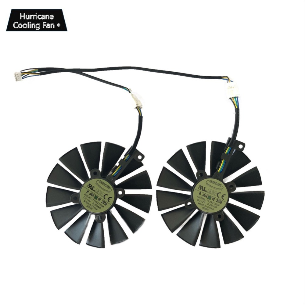 Image 4 - 95MM T129215SM 4Pin 12V Graphics Card Fan for ASUS STRIX GTX 1050 1050Ti 1070Ti 1080Ti RX 470 570 580 RX470 RX570 RX580 Cooler-in Fans & Cooling from Computer & Office