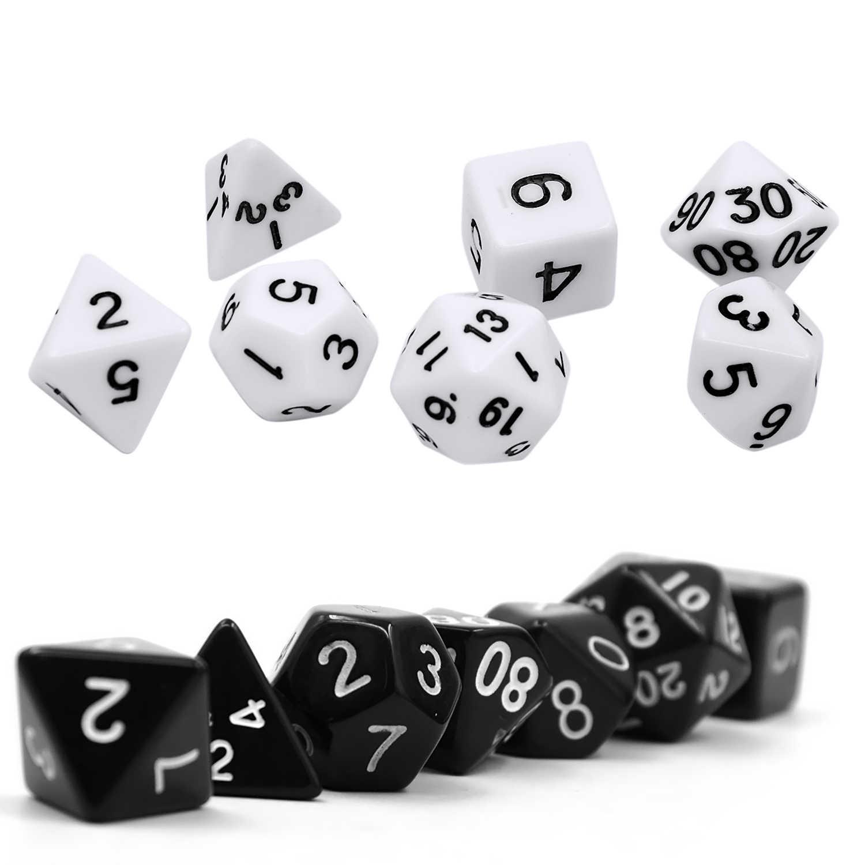 Juego de dados de juego de 7 piezas de acrílico poliedro