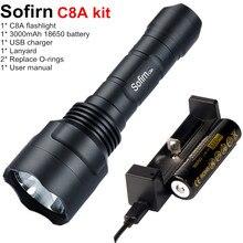 Sofirn C8A キット戦術的な LED 懐中電灯 18650 Cree XPL2 強力な 1750lm フラッシュライトハイパワートーチライトバッテリー充電器