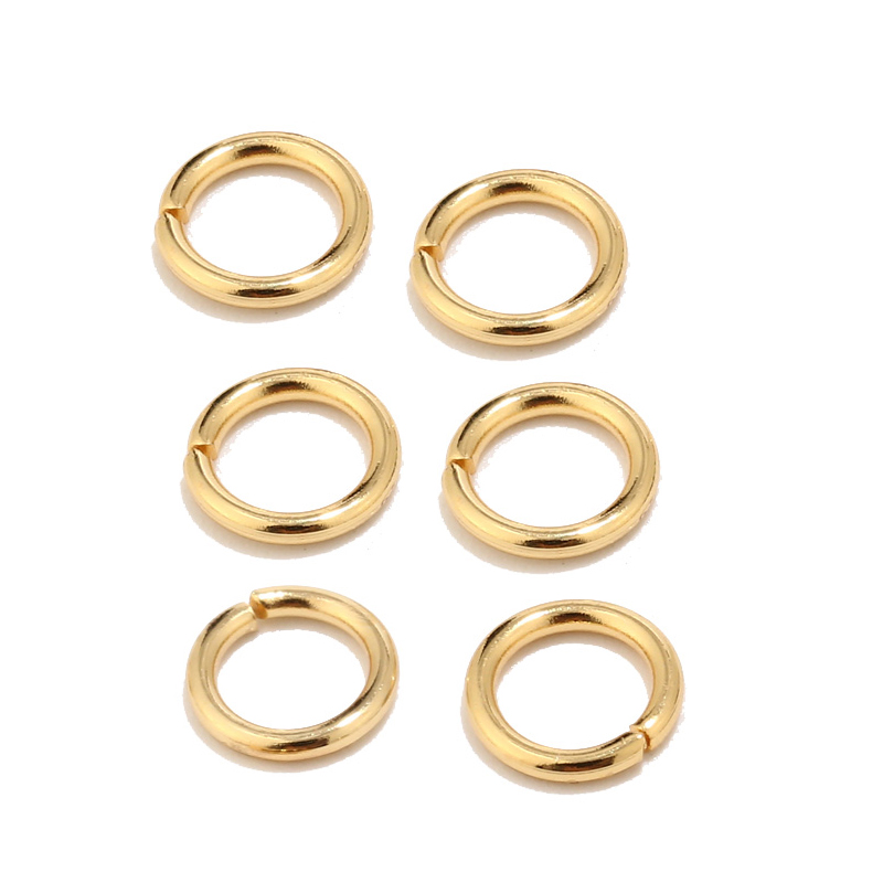 100pcs High Quality Gold Tone Stainless Steel Jump Rings for Jewelry Making Supplies Findings and Necklace Earring Repairs 5mm(China)