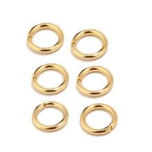 100 stücke Hohe Qualität Gold-Ton Edelstahl Ringe Springen für Schmuck Machen Liefert Erkenntnisse und Halskette Ohrring Reparaturen 5mm