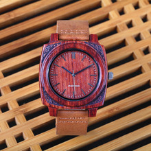 2016 New Man Wooden Watch Gift CRUDE WOOD Quartz Watch With Genuine Leather Role Men Women Relogio Masculino Watches