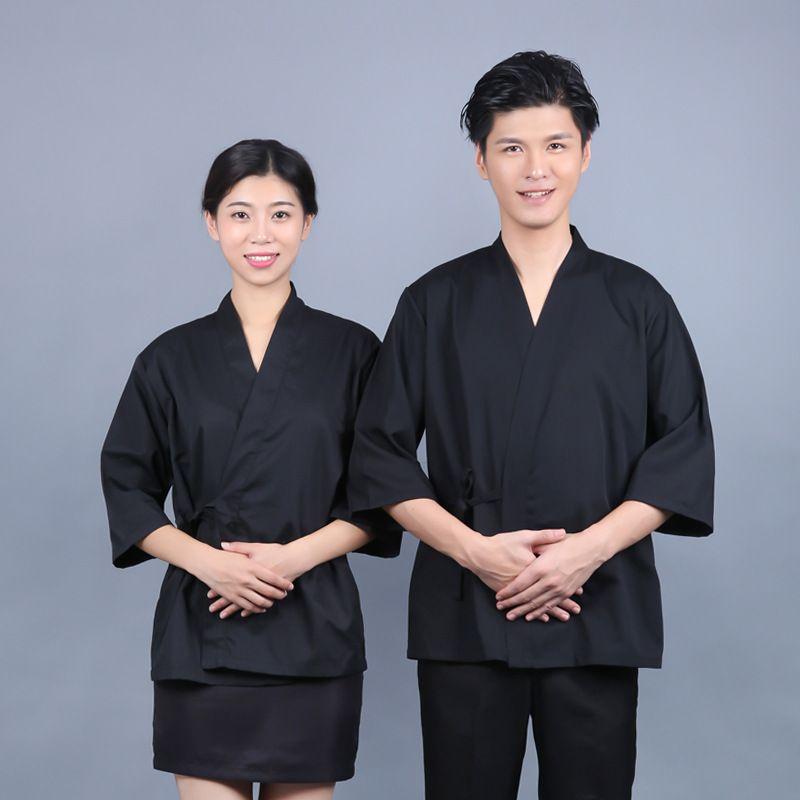 Japanese Chef Uniform Cook Jackets Unisex sushi uniform service designed clothing chef work jacket Japanese Kimono Blouse EJ14