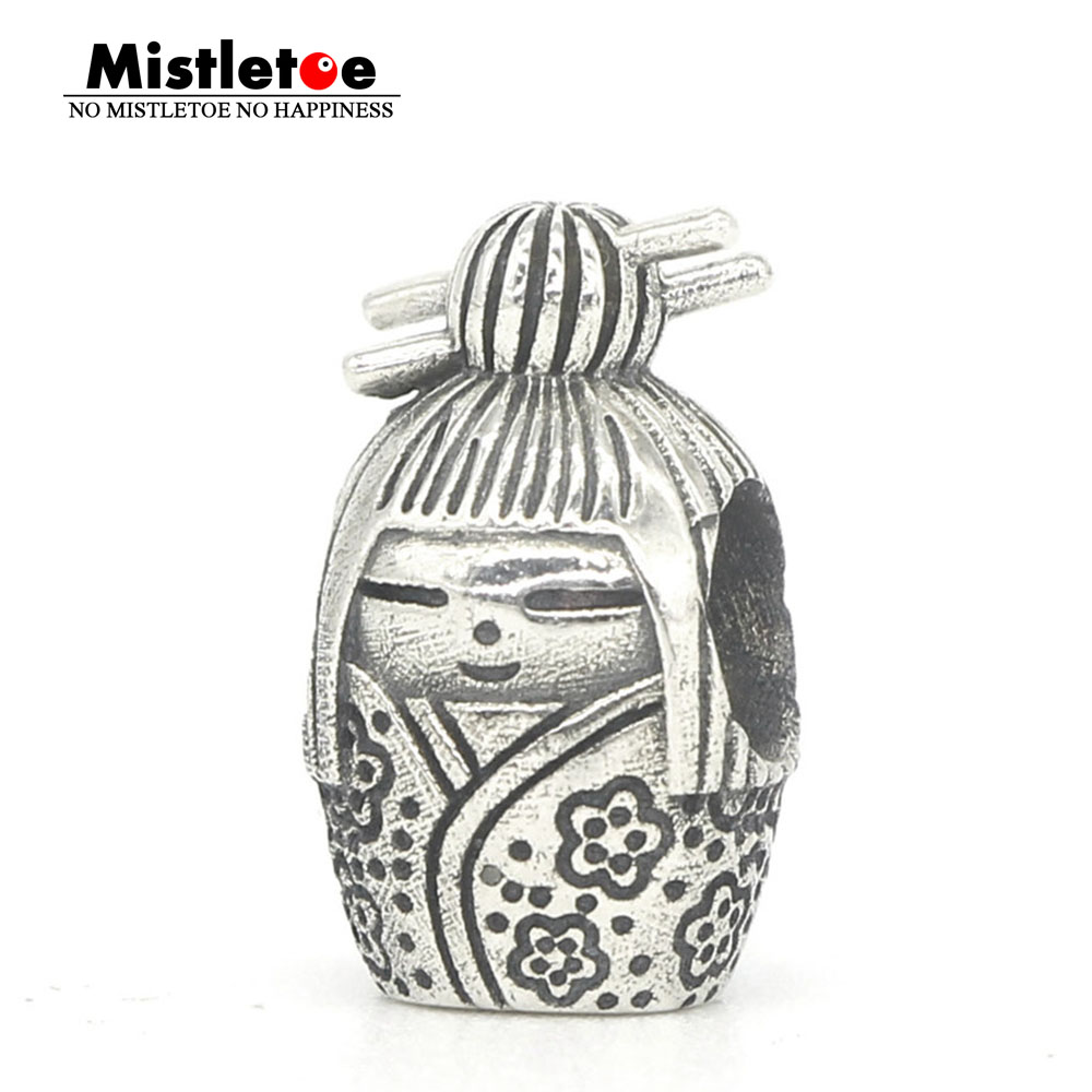 Mistletoe Genuine 925 Sterling Silver TScorpion doll Charm Bead Fit OHM Troll And Pan Bracelet Jewelry стоимость