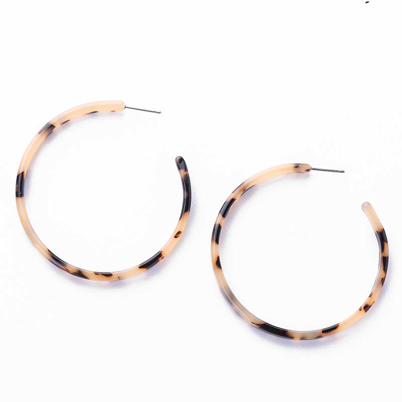 Acrylic Tortoiseshell Earrings For Women Vintage Brincos Stud Earring Circle Earrings For Women Elegant Jewelry Gfit pendientes