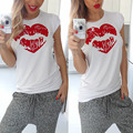 Labio rojo camiseta harajuku kawaii bts chemise femme hipster camisetas mujer casual verano de las mujeres blanco negro camiseta de manga corta