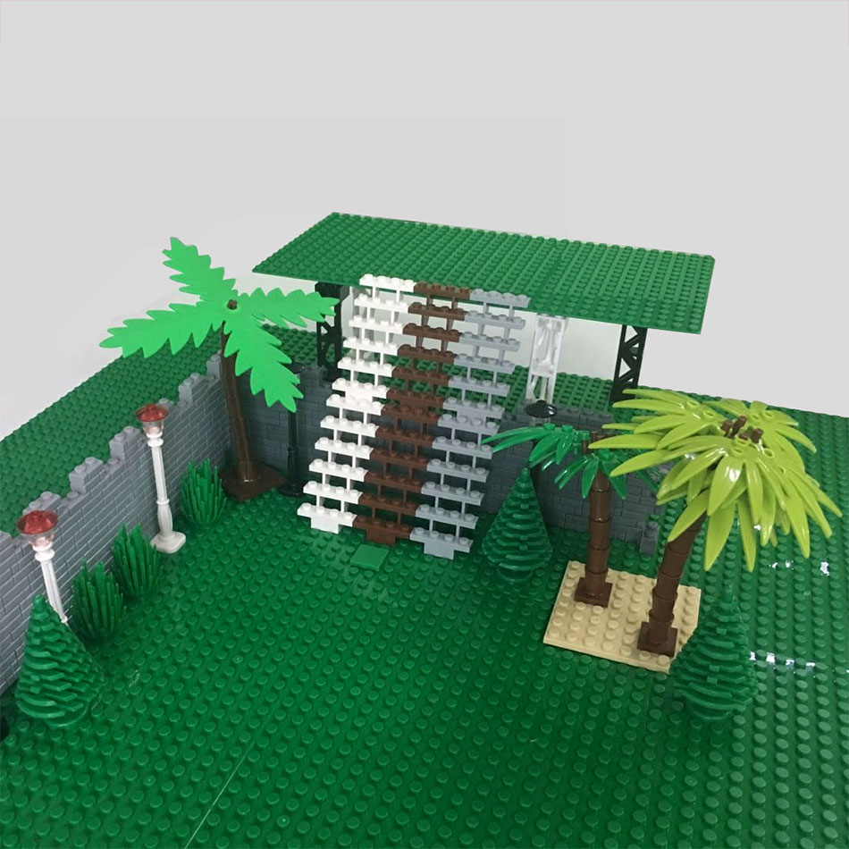 City Accessories Building Blocks Military Weapon Green Bush Flower Grass Tree Ladder Toys Pillar City Wall LegoINGlys