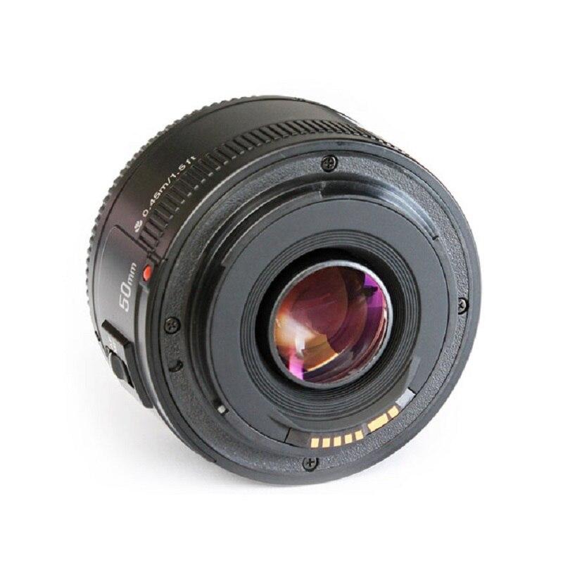 YONGNUO YN50mm F1.8 objectif de caméra EF 50mm pour Canon ouverture objectifs de mise au point automatique pour EOS DSLR 700D 750D 800D 5D Mark II IV 10D 1300